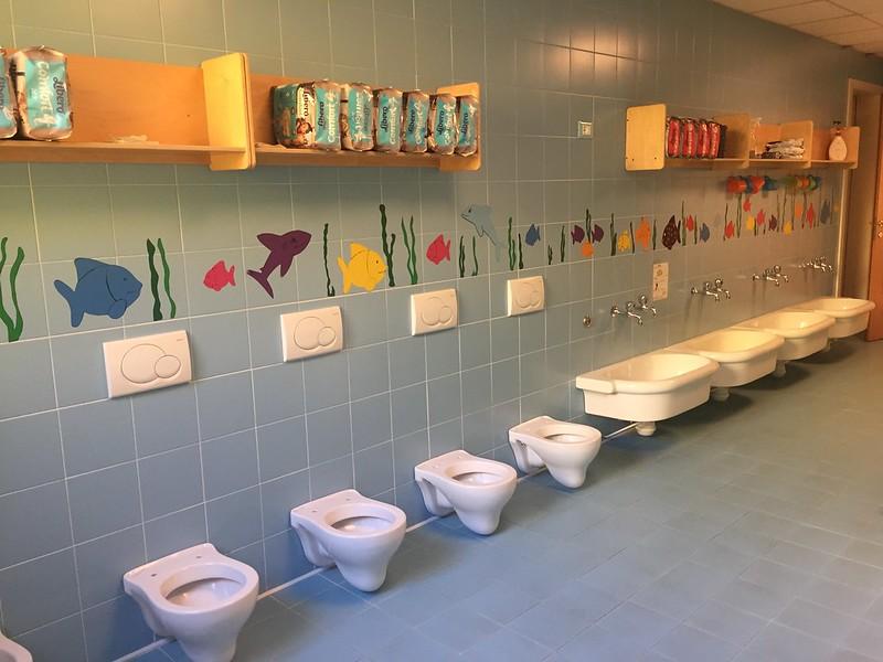la toilette riservata ai piu' piccoli