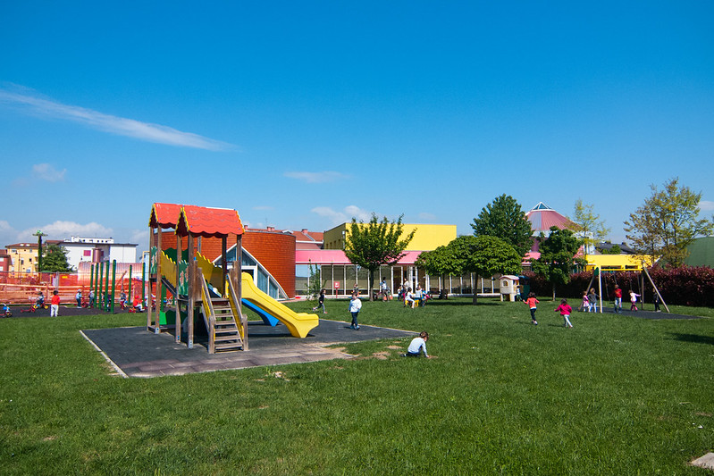 Giardino scuola infanzia